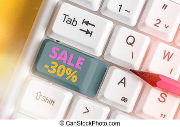 Handwriting text writing Sale 30 Percent. Concept meaning A ...