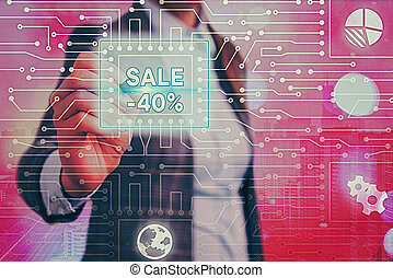 Handwriting text writing Sale 40 Percent. Concept meaning A ...