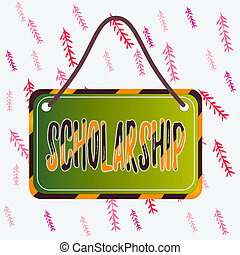 Handwriting text writing Scholarship. Concept meaning grant ...