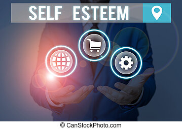 Handwriting text writing Self Esteem. Concept meaning a ...