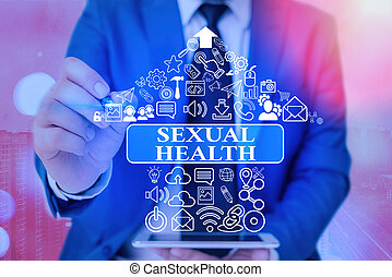 Handwriting text writing Sexual Health. Concept meaning ...
