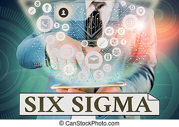 Handwriting text writing Six Sigma. Concept meaning set of ...