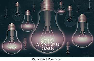 Handwriting text writing Stop Wasting Time. Concept meaning ...