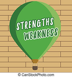 Handwriting text writing Strengths Weakness. Concept meaning...