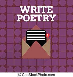 Handwriting text writing Write Poetry. Concept meaning ...