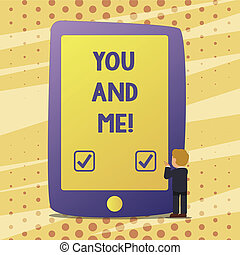 Handwriting text You And Me. Concept meaning Couple ...