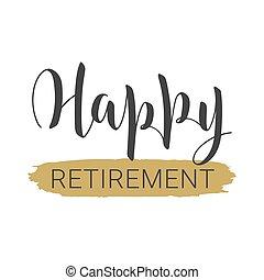 handwritten , φόρμα , ευτυχισμένος , χαιρετισμός , card., retirement., γράμματα
