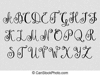 Handwritten Brush Flourish Font