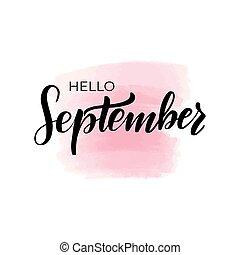 lettering hello September