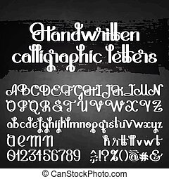 Handwritten calligraphic script