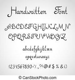 Handwritten Font, ink style - Handwritten Font, ink sketch...