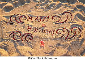 handwritten Happy birthday sign