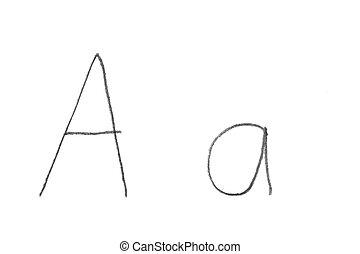 Handwritten Letter A