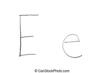 Handwritten Letter E
