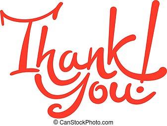 handwritten lettering inscription thank you
