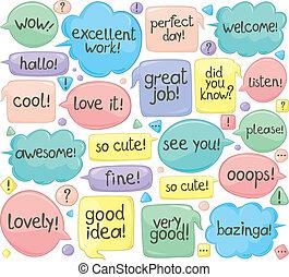 Handwritten Phrases In Speech Ballo