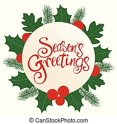 Season's Greetings text with decoration