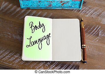 Handwritten Text Body Language