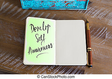 Handwritten Text Develop Self Awareness