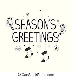 Handwritten text Season's Greetings