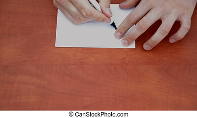 Handwritten word Fake - Handwritten word Fake on white paper...