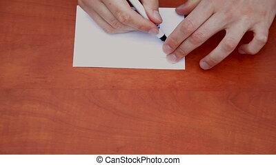 Handwritten word Hush
