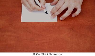 Handwritten word Order