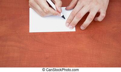 Handwritten word Problem on white paper sheet