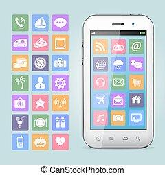 handy, app, heiligenbilder