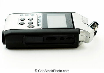 Handy recorder isolated on white background.