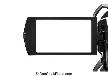 handycam, espace, vide, exposer, vidéo, camcorder numérique