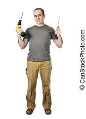 handyman, ねじ回し, ドリル