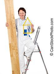 handyman, 床材, 寄せ木張りの床