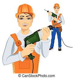 handyman, 緑, 保有物, ドリル