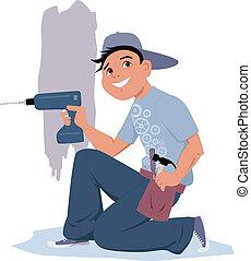 handyman, 電気のドリル