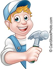 handyman, aannemer, arbeider, timmerman, bouwsector, of