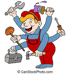 Handyman - An image of a handyman who is a jack of all...
