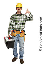 handyman contact us - young manual worker in contact us...