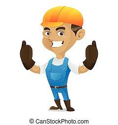Handyman giving thumbs up
