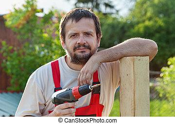handyman, jarda, trabalhando