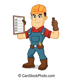 handyman, klus, lijst, vasthouden