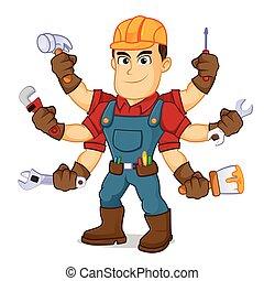 handyman, mutiple, 道具, 保有物