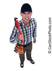 handyman., obłąkany