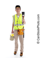 Handyman or painter ready for work