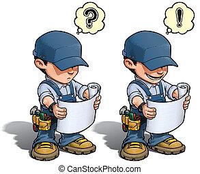 Handyman - Reading Plan Blue - Cartoon illustration of a ...