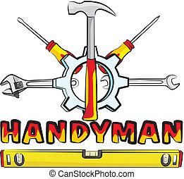 handyman, -, redskaberne