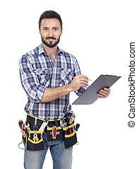 Handyman taking notice
