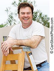 handyman, vrolijke
