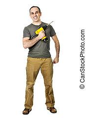 Handyman with a drill