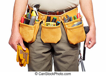Handyman with a tool belt.